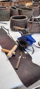 leather and tools